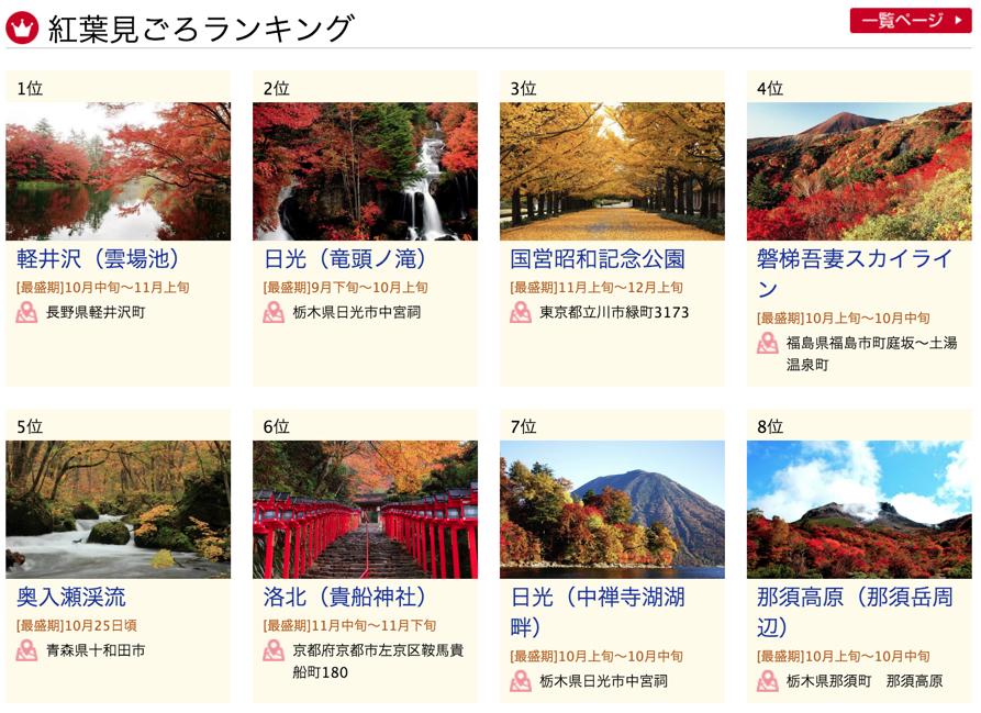 日本楓葉變色