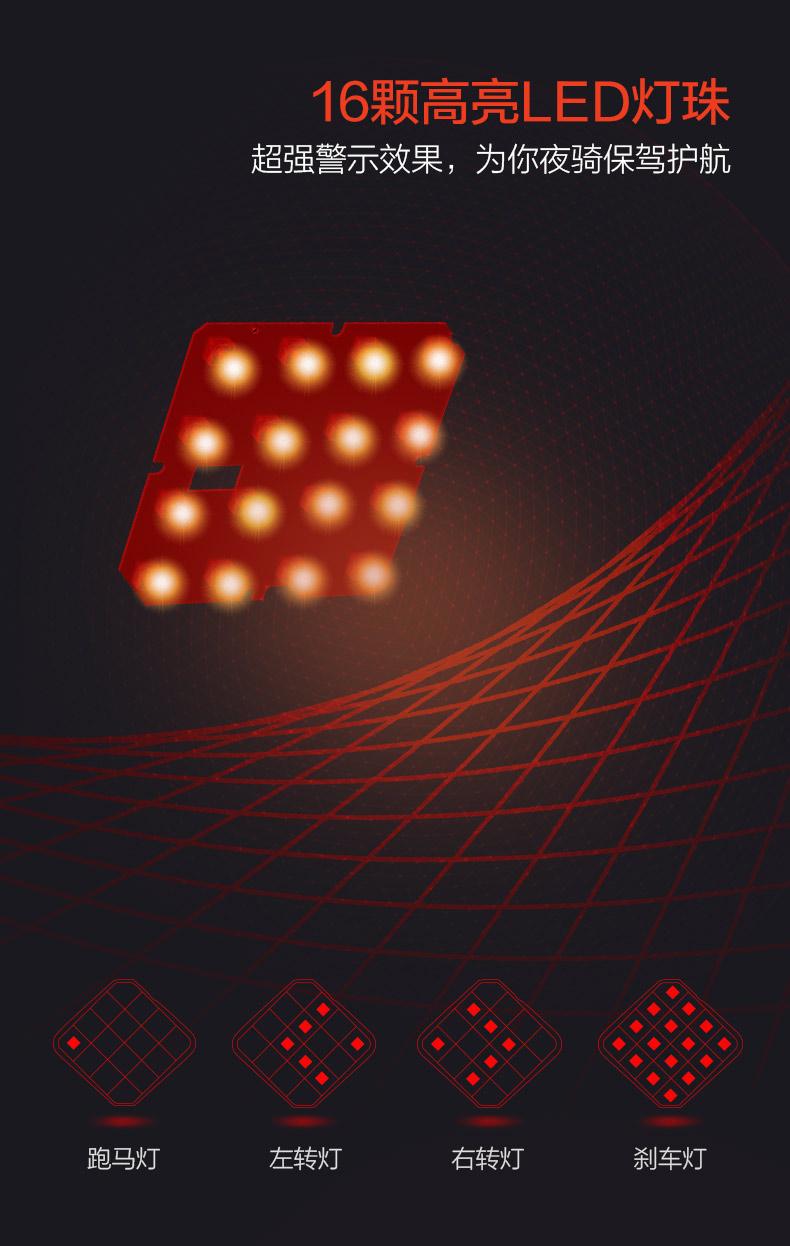 G1智能單車尾燈