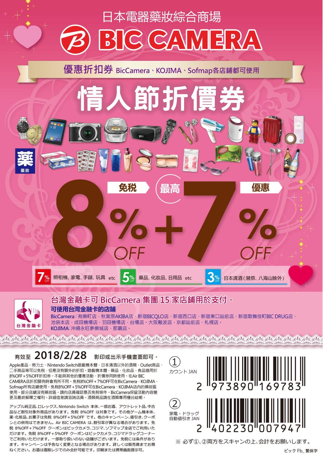 Bic Camera 台灣金融卡