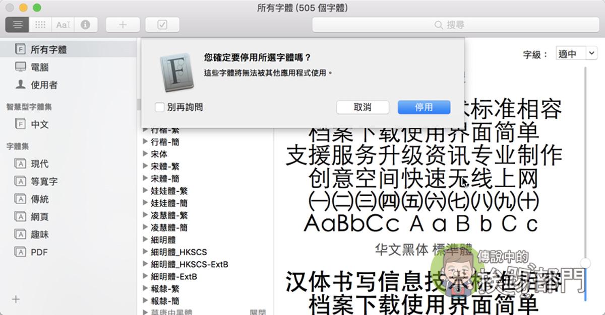 Mac 字型商用