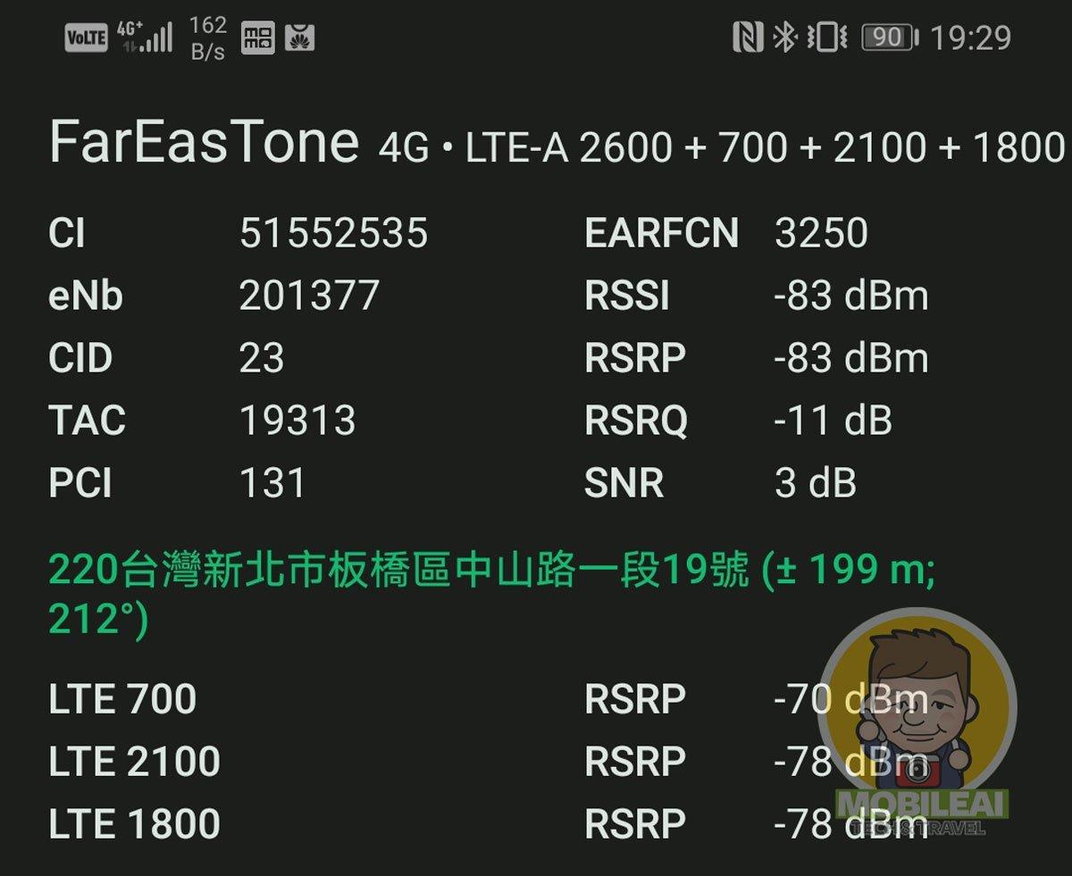 可即時監控 4G LTE 頻段與 4CA 載波聚合組合好工具