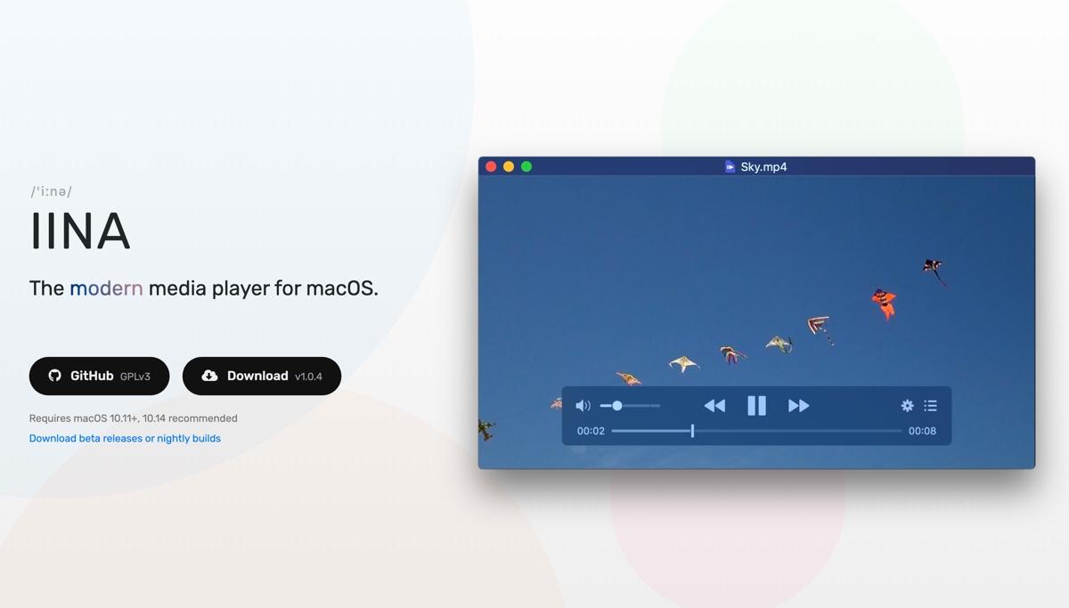 macOS 支援 8K VP9 萬用影音播放軟體