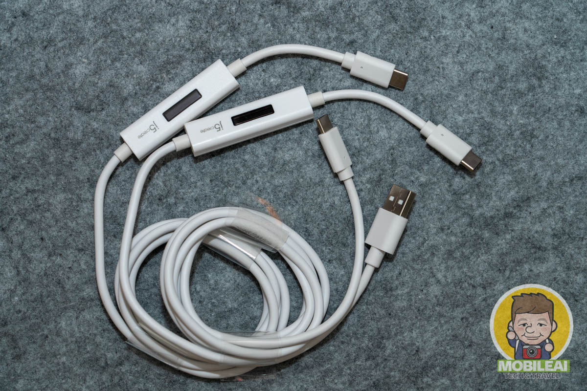 J5create USB 電流檢測器充電傳輸線