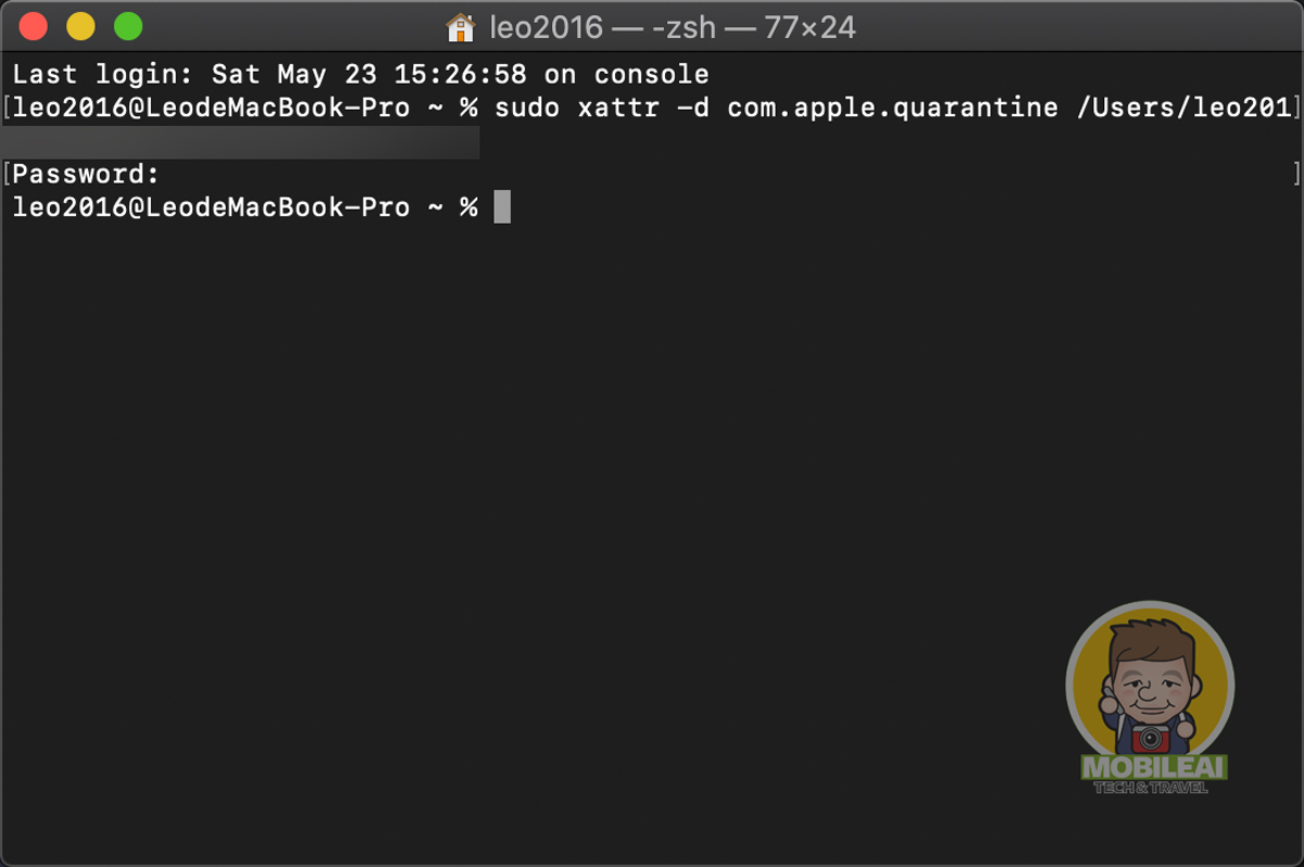 macOS 10.15 安裝第三方軟體出現文件已經損毀該如何解決