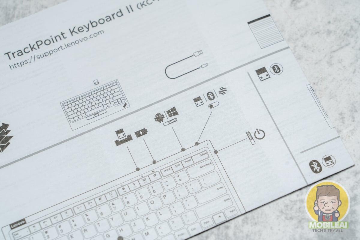 Lenovo ThinkPad TrackPoint Keyboard II 第二代小紅點藍牙+2.4G無線鍵盤