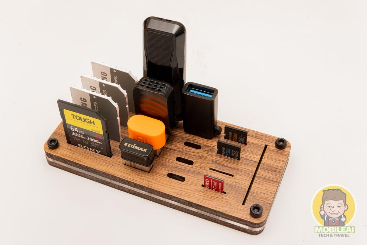 SD、micro SD記憶卡、USB Type-C隨身碟轉接頭開放式收納盒