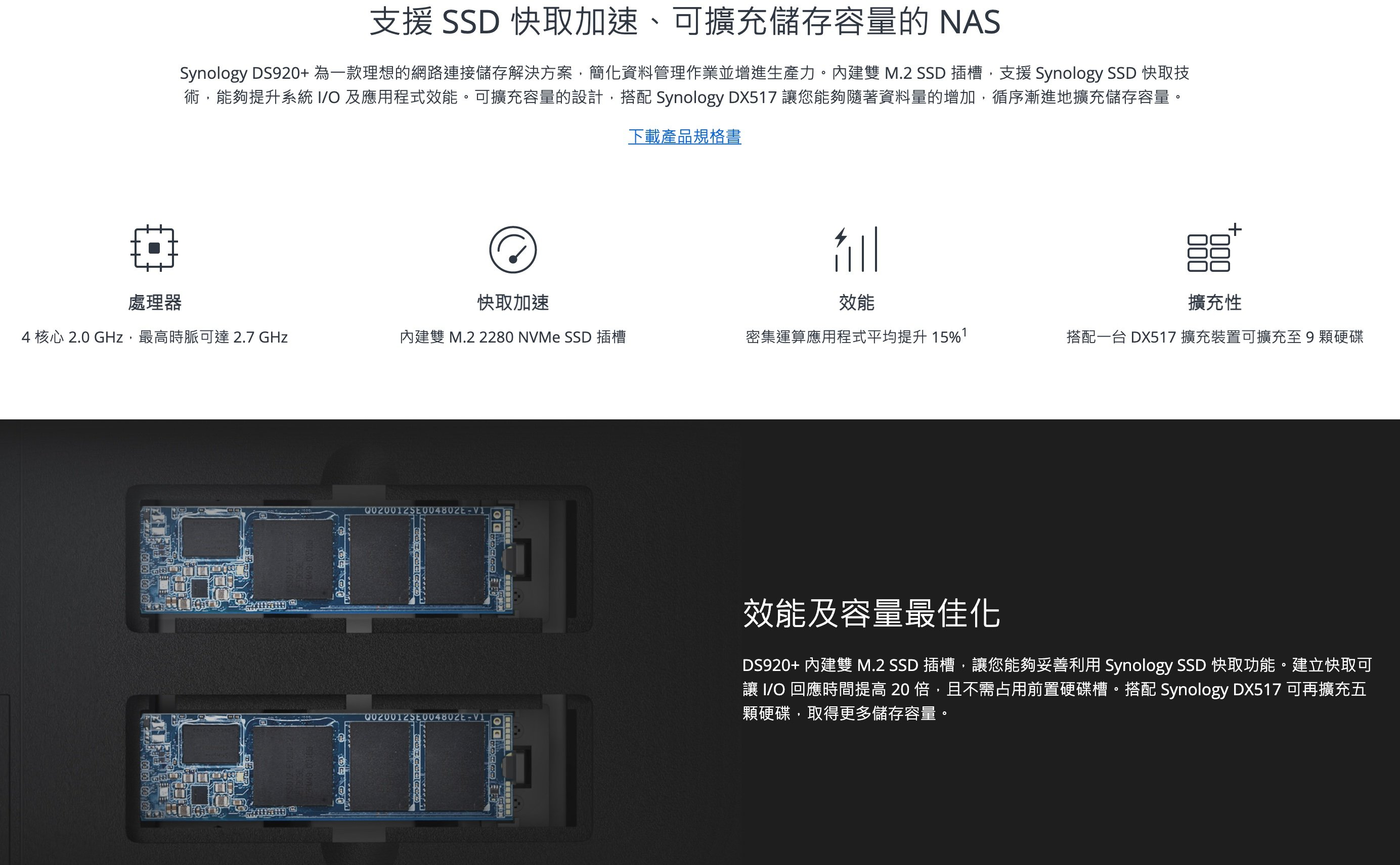 群暉 Synology DS920+ M.2 SSD插槽存取速度到底多少
