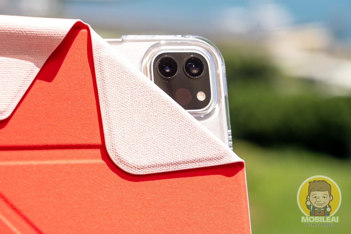 JTLEGEND iPad Amos相機快取多角度折疊布紋皮套
